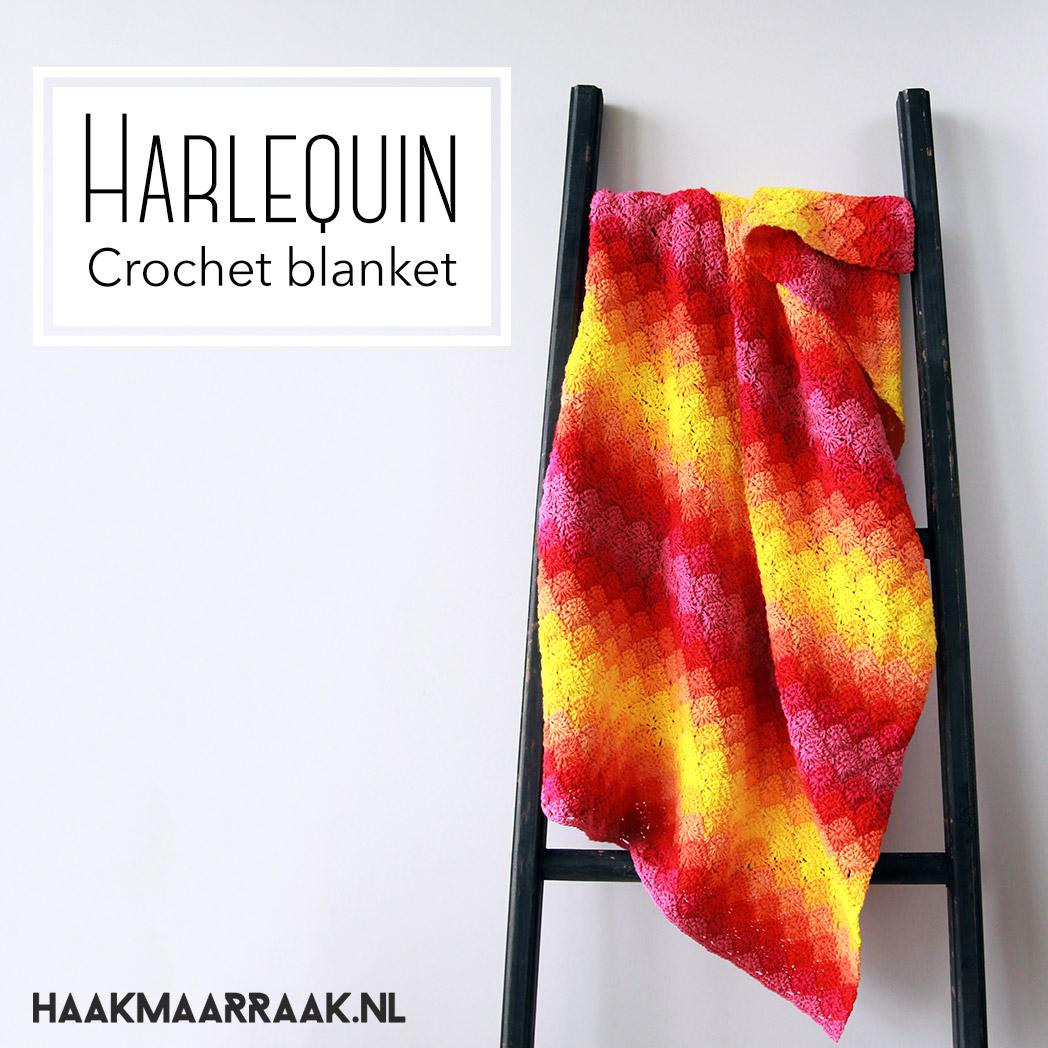 Harlequin Blanket FREE crochet pattern by Haak Maar Raak