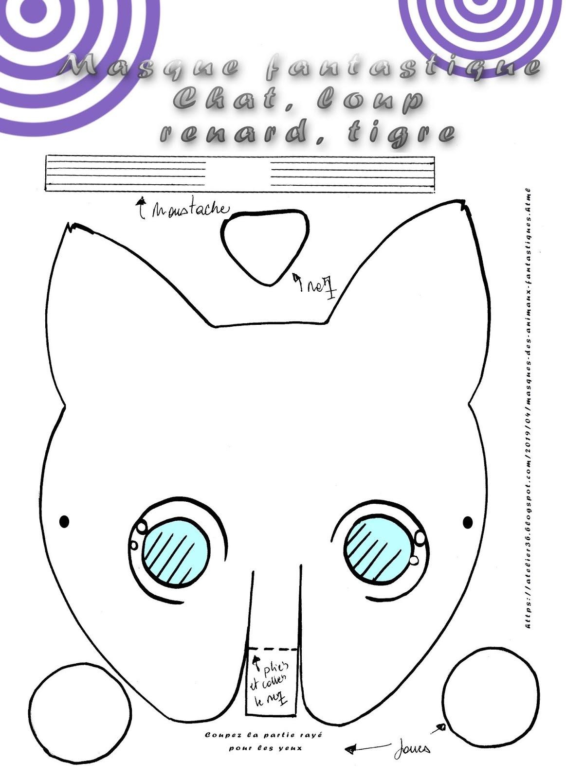 La Boite à Idées De L Atelier 3b Masques Des Animaux