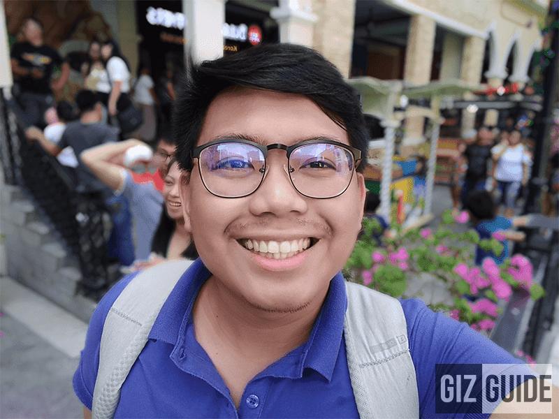 Selfie portrait bokeh