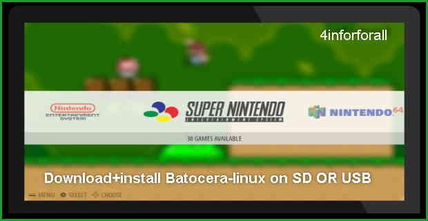 موسوعة تاك: Batocera-linux شرح+تحميل+تثبيت نضام باتوسيرا