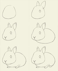 bunny draw drawings rabbit step easy drawing march simple bunnies rabbits cartoon steps sketch way easter together learn doodle ways