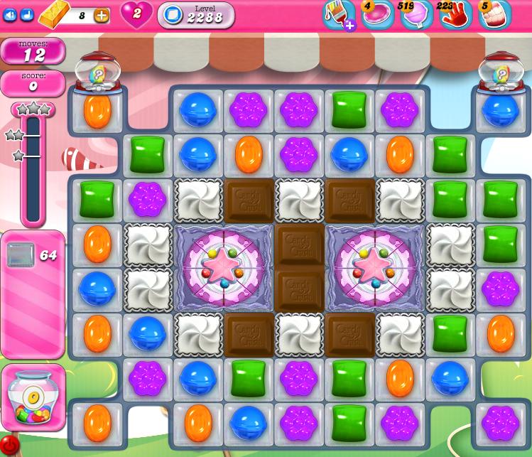 Candy Crush Saga level 2288