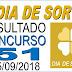 Resultado do Dia de Sorte concurso 51 (15/09/2018)