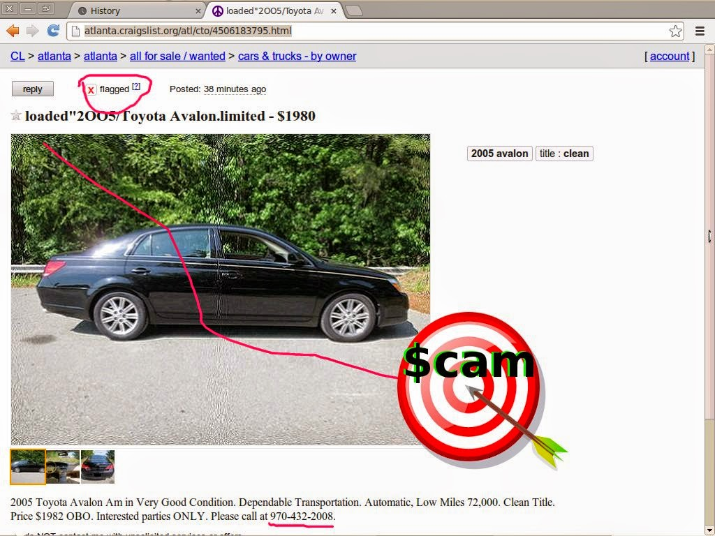 CRAIGSLIST SCAM ADS DETECTED 02/27/2014 - Update 2 | Vehicle