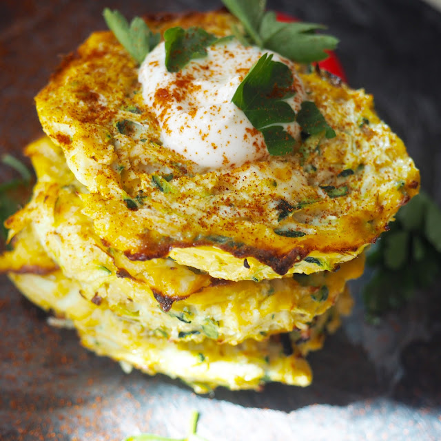 Courgette and feta fritters recipe