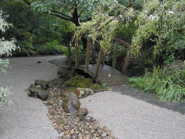 Japanese Garden, ogród japoński, sucha rzeka
