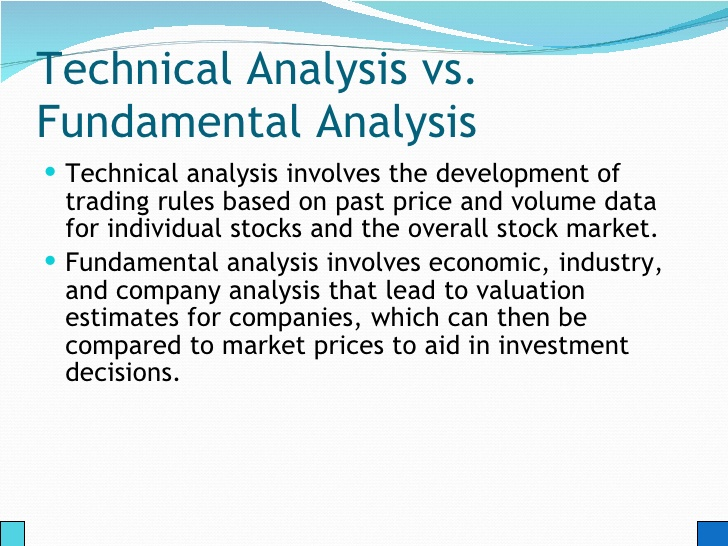 fundamental vs technical stock analysis The meaning of fundamental analysis, differences with technical analysis, the application of fundamental analysis in stock markets and important factors to consider.