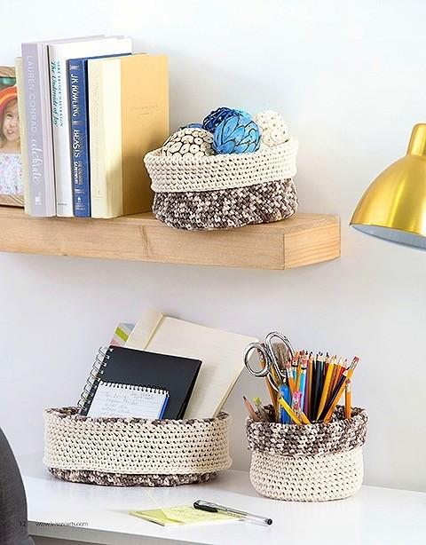 tshirt yarn basket bowl crochet pattern