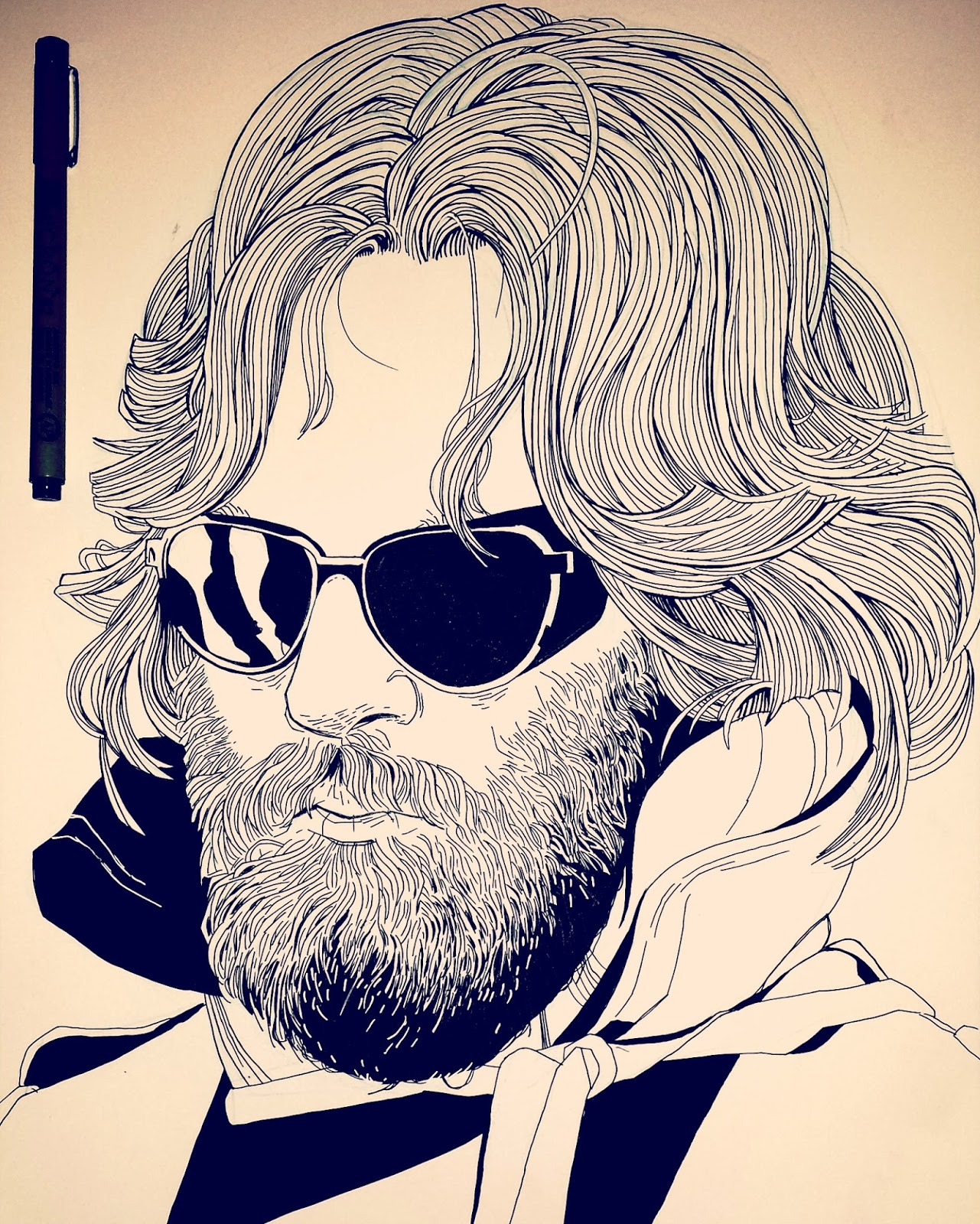 Kurt Russell The Thing Illustration