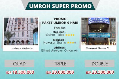 Paket  Umroh  Promo 9 HarI