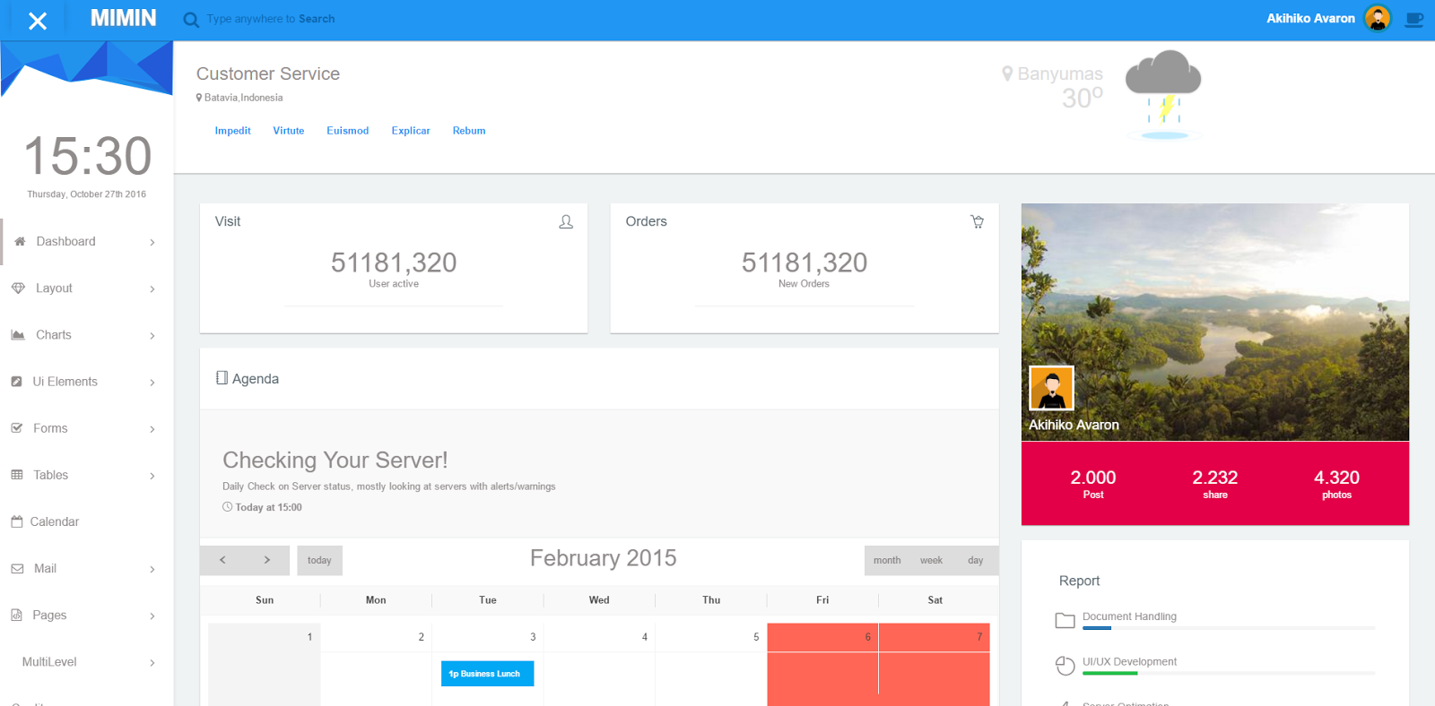 Free download miminium admin template material design for Admin template free download in php