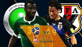 Saudi Arabia vs Japan Live Stream Football online today 5-September-2017