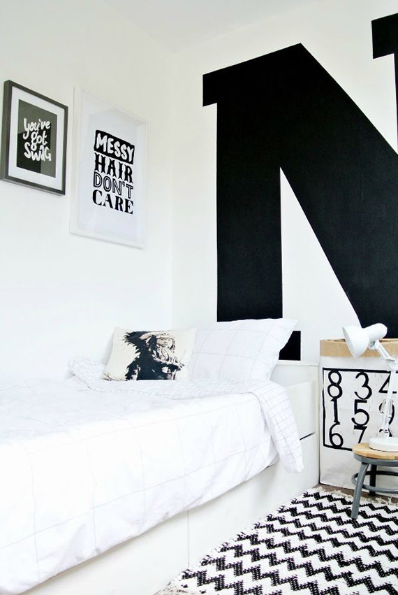 Black And White Kid S Room Via Charly Style