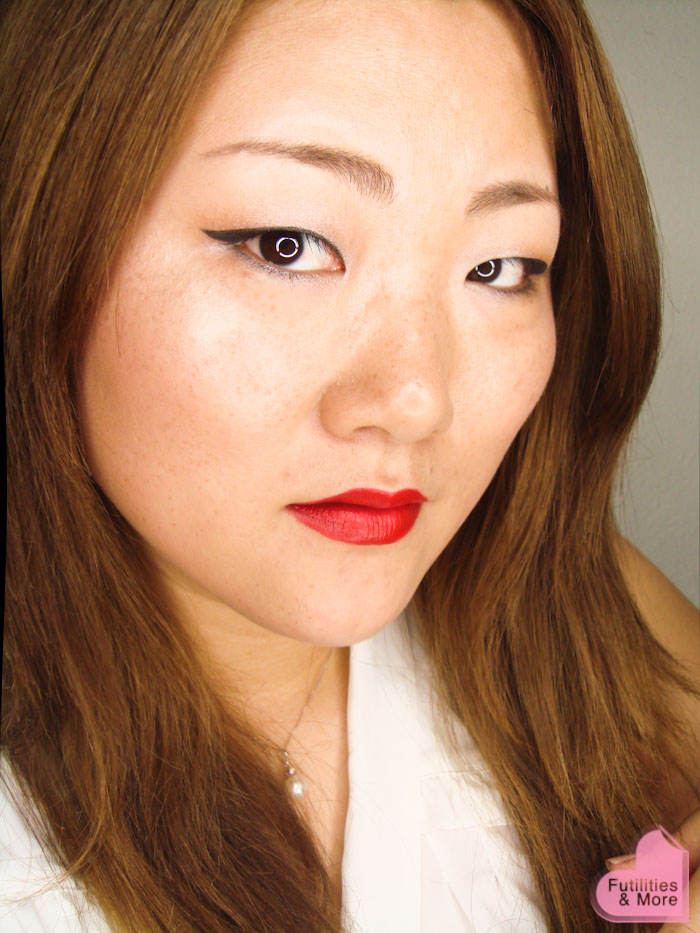Winged Eyeliner And Red Lips Asian Eyes Monolid Makeup Tutorial