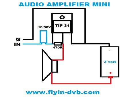 Belajar Merakit Audio Amplifier Mini Dengan 1 Transistor