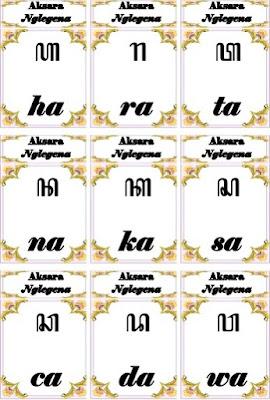 kartu aksara Jawa