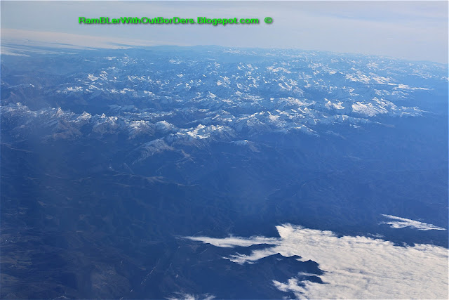 Mountain ranges, Aerial view of over northern Spain from the windows of a commercial airline