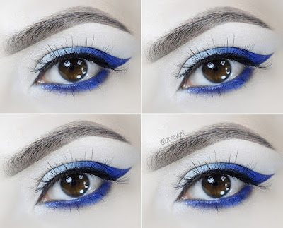 how to diy tutorial eyeliner smoky bright bold makeup for brown eyes blog beauty