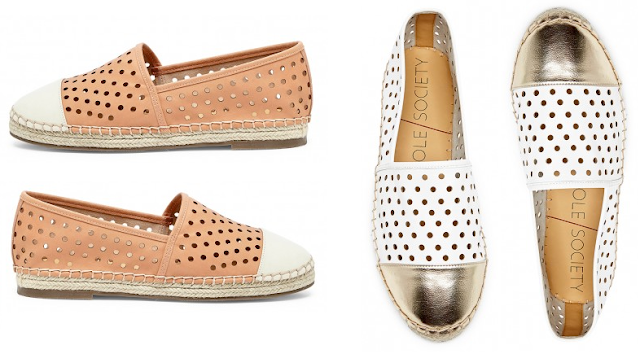 Sole Society Perforated Espadrilles $28 (reg $70)