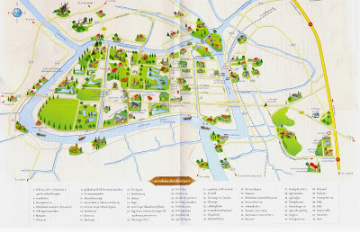 Carte de Ayutthaya en Thaïlande