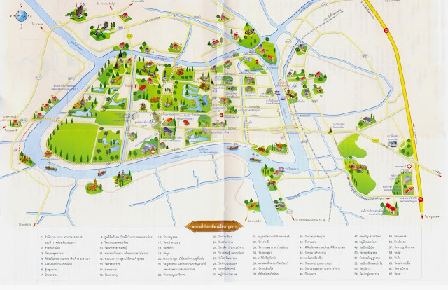 Mapa de Ayutthaya Tailândia