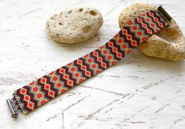 Купить браслет из бисера этнические украшения россия