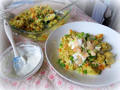 Curried Chicken & Coconut Rice Casserole