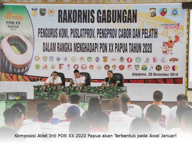 Komposisi Atlet Inti PON XX 2020 Papua akan Terbentuk pada Awal Januari