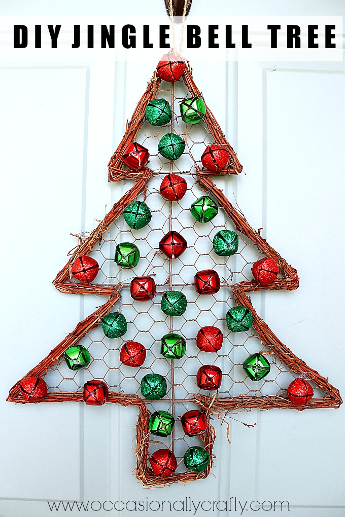Jingle Bell Christmas Tree Door Hanger | Occasionally ...