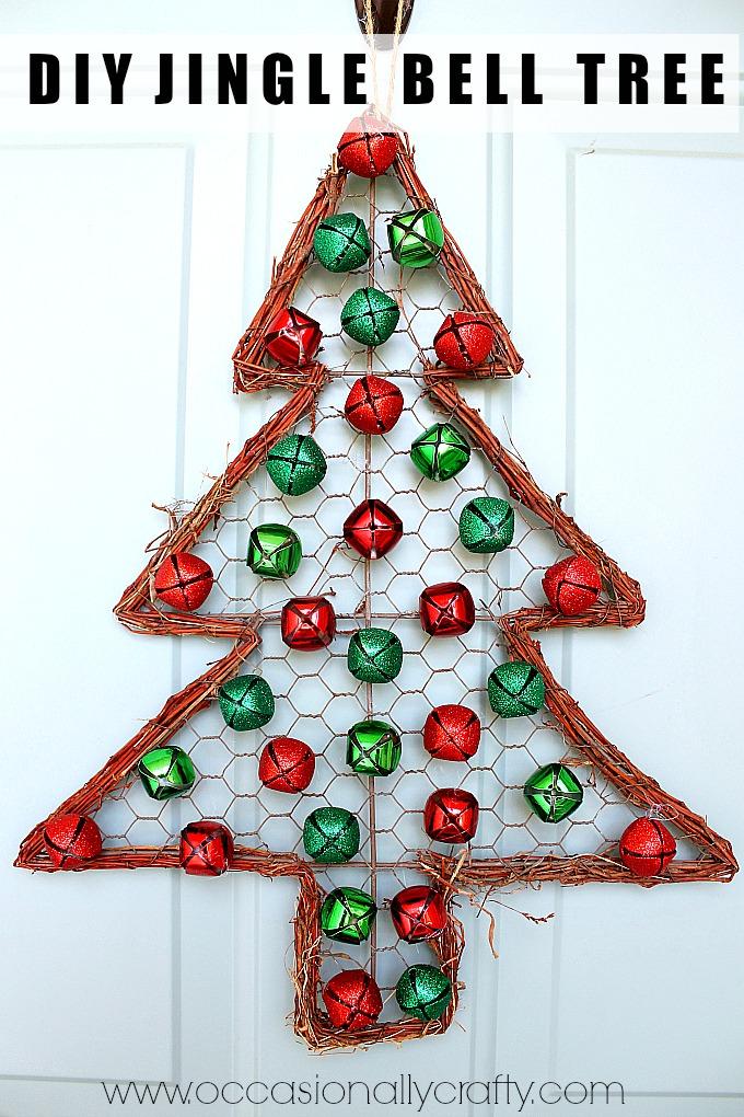 Jingle Bell Christmas Tree Door Hanger | Occasionally ...