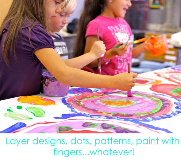 Circle Painting school paints