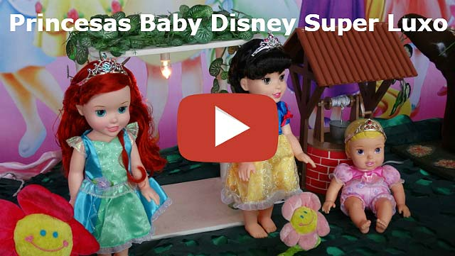 Vídeo decoração de mesa de aniversário tema Princesas Baby da Disney