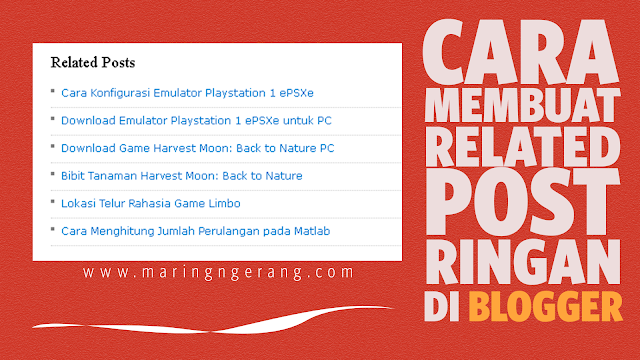 Membuat related post sederhana di Blogger
