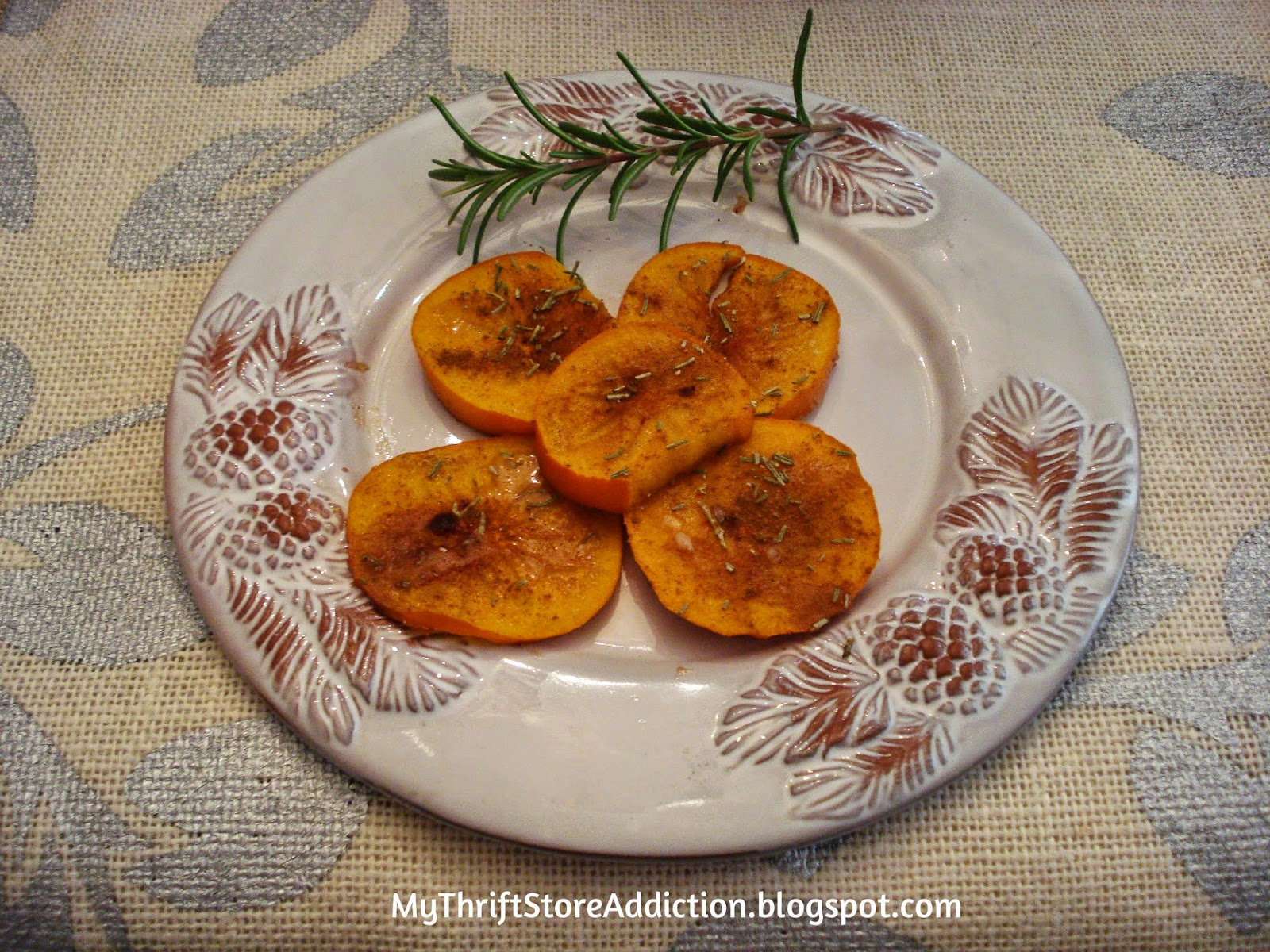 Rosemary and honey roasted persimmons