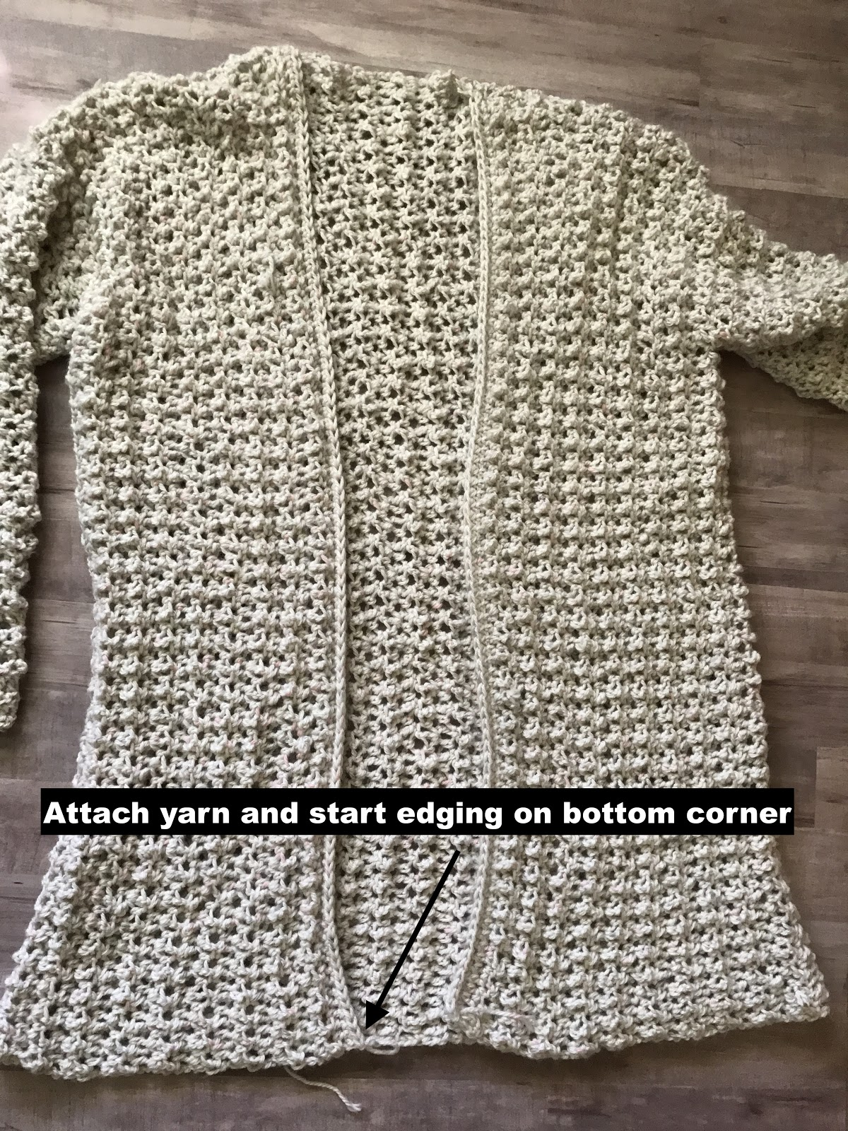 Comfy cozy oversized crochet cardigan pattern poppy cardigan edging attach yarn to bottom of cardigan ch 2 hdc up the side around the neckline and down the other side of the cardigan turn bankloansurffo Choice Image