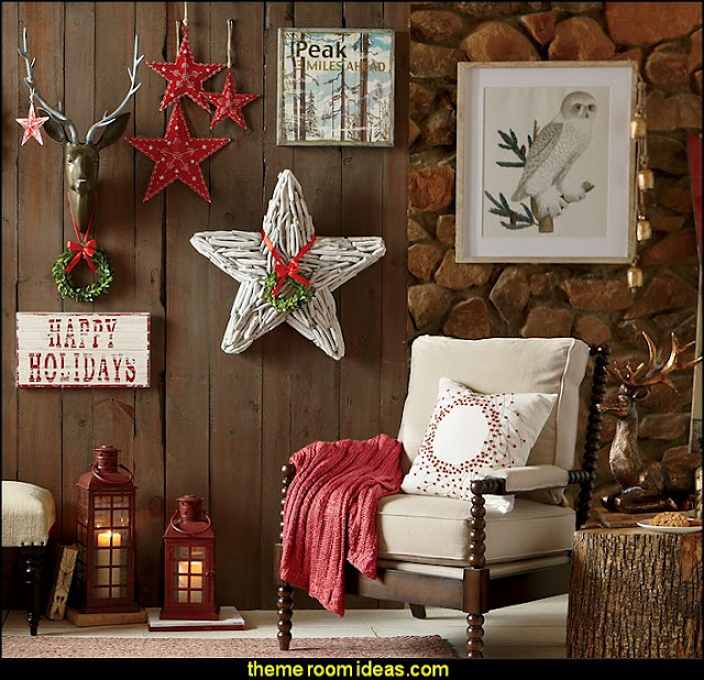rustic christmas decorations Rustic Christmas decorating ideas - rustic Christmas decorations - Vintage - Rustic - Country style Christmas decorating - rustic Christmas decor - Christmas stockings