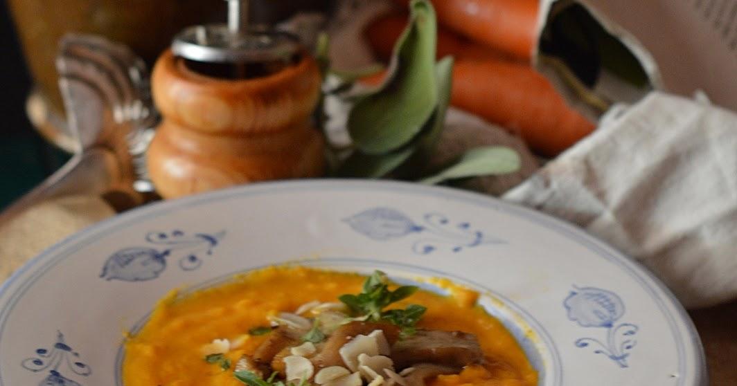 Crema di carote, zenzero e porcini
