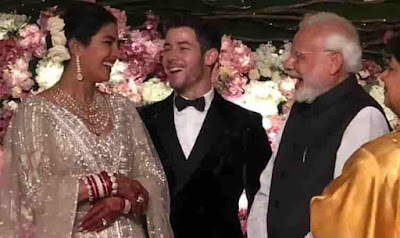 PM Modi Attends Priyanka-Nick Wedding Reception In Delhi