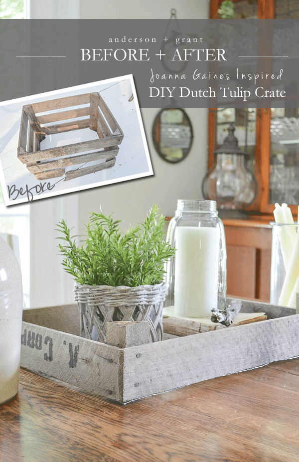 Joanna Gaines Inspired DIY Dutch Tulip Crate   | www.andersonandgrant.com