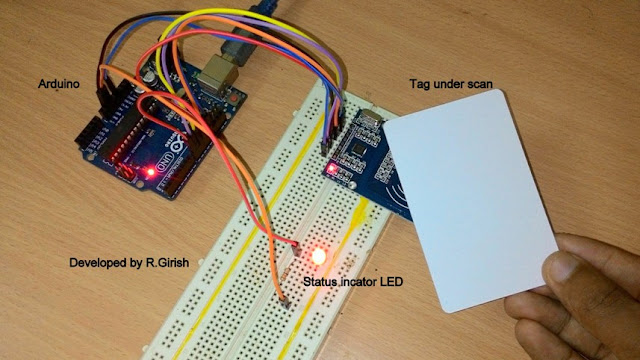 The RFID circuit consist of LED which indicate the status of the relay