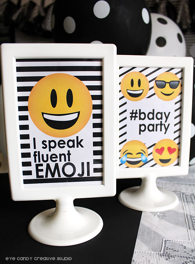 I speak fluent emoji, emoji party, emoji birthday, #bdayparty, emojis