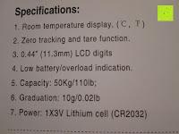 Spezifikation: Tragbare elektronische Waage Gepäckwaage silber