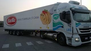 Barilla rinnova il parco mezzi di trasporto con lng