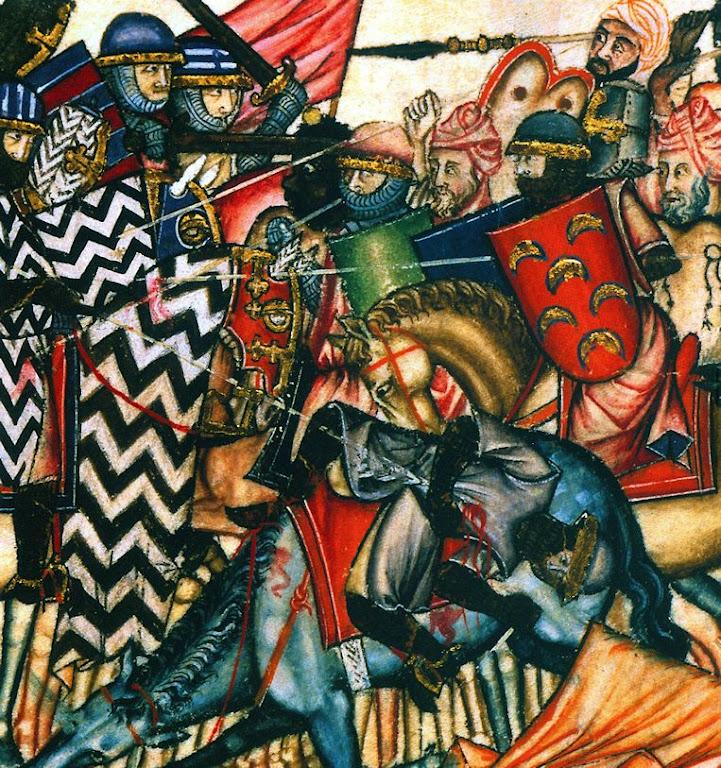 Cristãos contra mouros. Cantigas de Santa Maria, El Escorial.