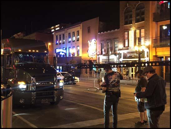 Mack Anthem stars in new Jon Pardi music video downtown Nashville, TN