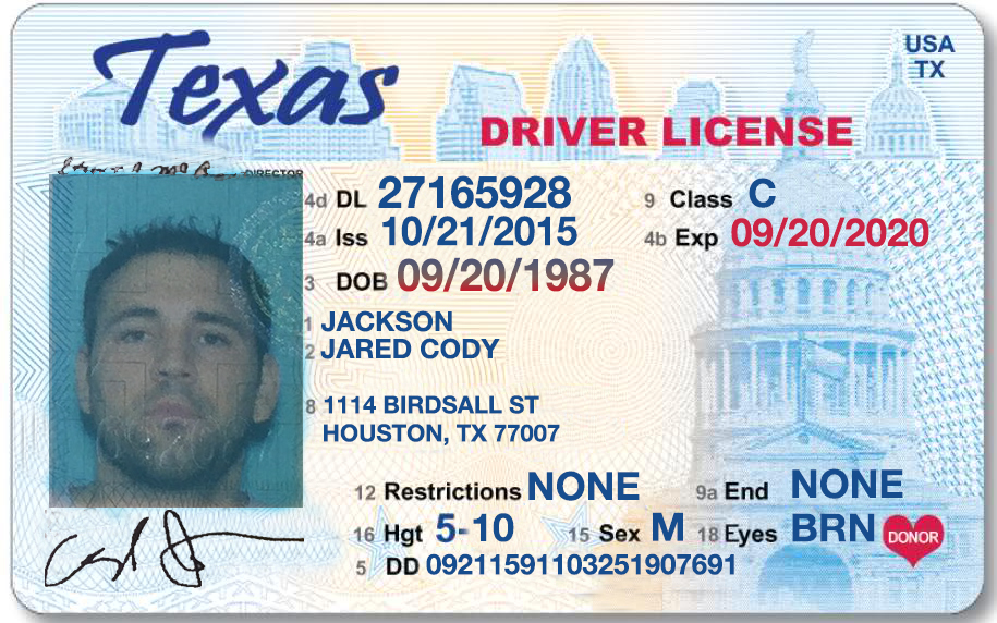 its Template Drivers License state Texas file Photoshop(version 2 - free forms templates