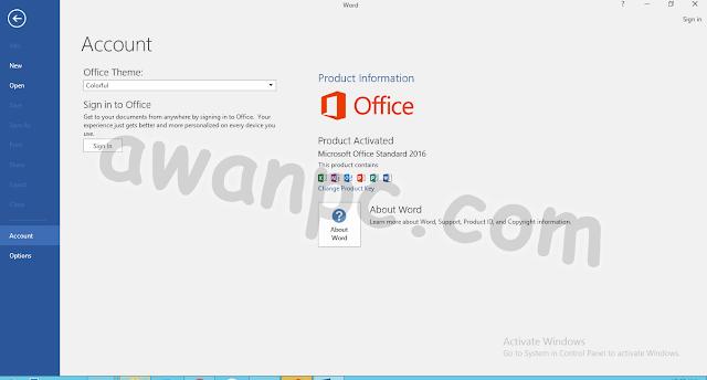 Download Microsoft Office 2016 Standard 16.0.4405.1000 Agustus Terbaru