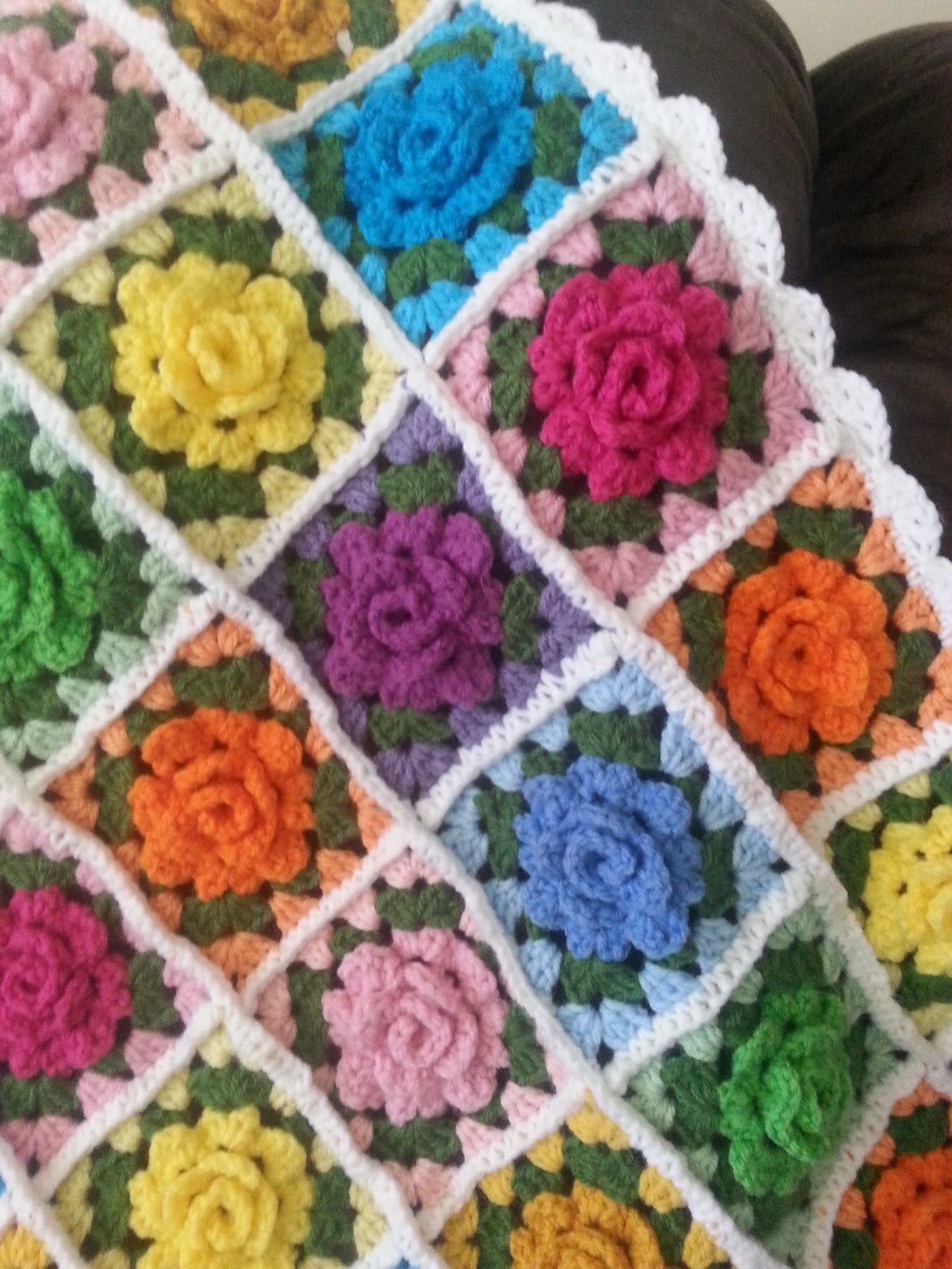 Apple Blossom Dreams: More of My Homies Granny Rose Afghans!