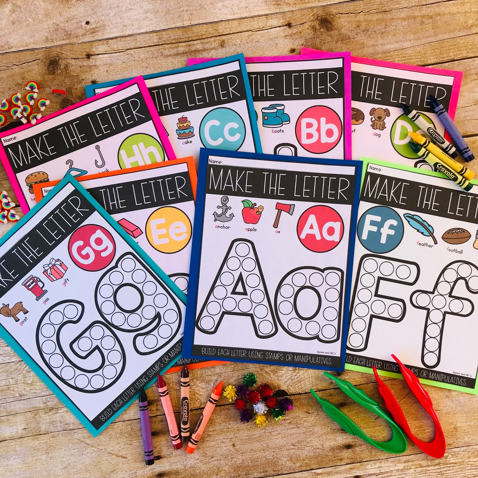 Letter Mats To Build The Letters Apples And Abc S Bloglovin