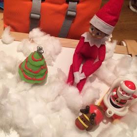 Elf on the shelf with santa toy